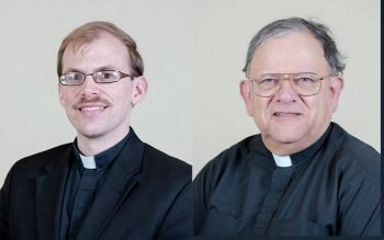 Father Louis Sirianni (right) will step down Sept. 1 as judicial vicar for the Diocese of Rochester's Tribunal. He will be replaced by Father Peter Mottola (left). (Courier file photos)