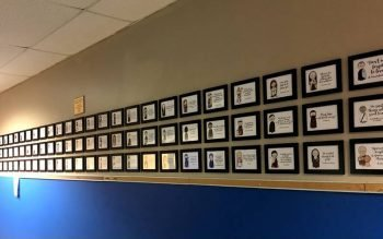 The Wall of Faith at St. Joseph School in Penfield. (Photo courtesy of St. Joseph School)