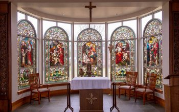 The chapel inside St. Bernard's School of Theology and Ministry in Pittsford. (Courier file photo)