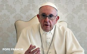Pope Francis is pictured in a video for an ad campaign promoting COVID-19 vaccines throughout the Americas. (CNS screenshot courtesy Ad Council)