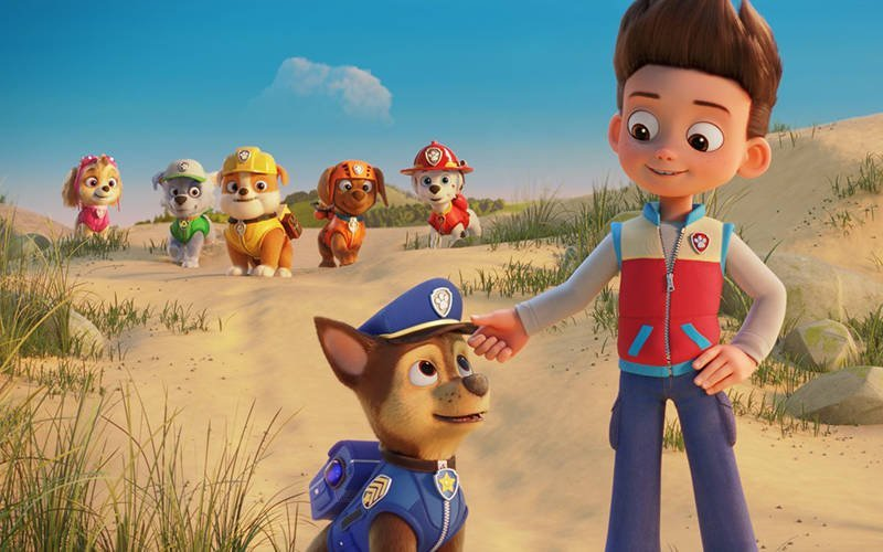 """This is a scene from the animated movie """"PAW Patrol: The Movie."""" The Catholic News Service classification is A-I — general patronage. The Motion Picture Association rating is G — general audiences. All ages admitted. (CNS photo by Spin Master/Paramount Pictures)"""