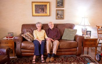 Walter and Irene Mace of Canandaigua will celebrate 75 years of marriage in October. (Courier photo by Jeff Witherow)