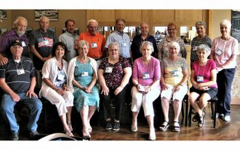 Members of Holy Cross School's Class of 1956 gather for a reunion each year, with the most recent one taking place July 25. (Photo courtesy of Carol Sharpe)