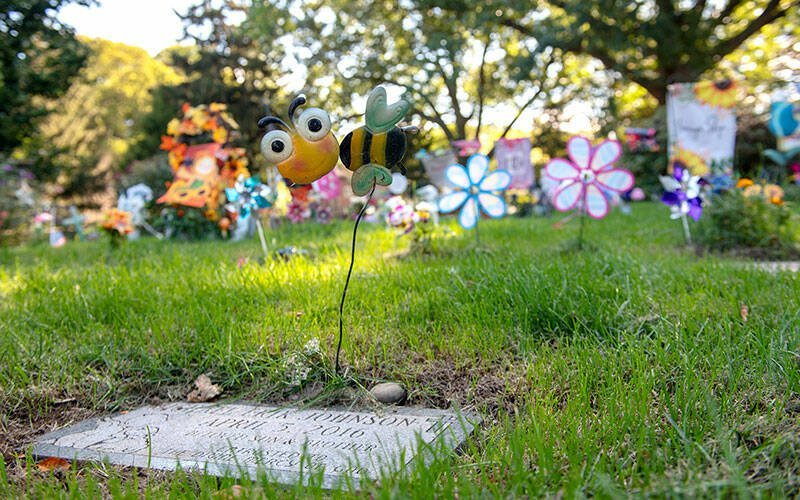 The Christ Child section of Rochester's Holy Sepulchre Cemetery, reserved for infant loss and the unborn, is seen Sept. 28.