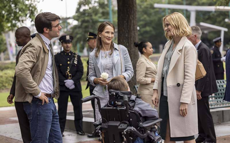 """James Wolk, Anne Ramsay and Elizabeth Lail star in a scene from the TV show """"Ordinary Joe."""" (CNS photo by Fernando Decillis/NBC)"""