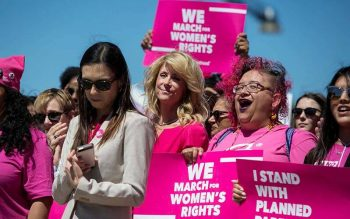 A Planned Parenthood rally is seen outside the State Capitol in Austin, Texas, in this 2017 file photo. (CNS photo by Ilana Panich-Linsman/Reuters)