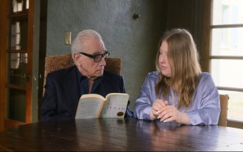 """Film director Martin Scorsese speaks with his daughter, Francesca, in """"Stories of a Generation,"""" a Netflix documentary series based on Pope Francis' book, <em>Sharing the Wisdom of </em><em>Time</em>. The documentary features Pope Francis and other people over 70 sharing their life stories and experiences with filmmakers under 30. (CNS photo courtesy Netflix)"""