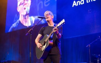 Catholic musician Matt Maher performs during the Australian Catholic Youth Festival Dec. 8 in Sydney. An estimated 20,000 people attended the three-day event. (CNS photo courtesy Archdiocese of Sydney)