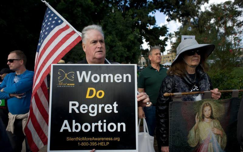 People participate in the annual Walk for Life in San Diego Jan. 20. The march was held in protest of the U.S. Supreme Court decision on Roe v. Wade to legalize abortion. (CNS photo by David Maung)