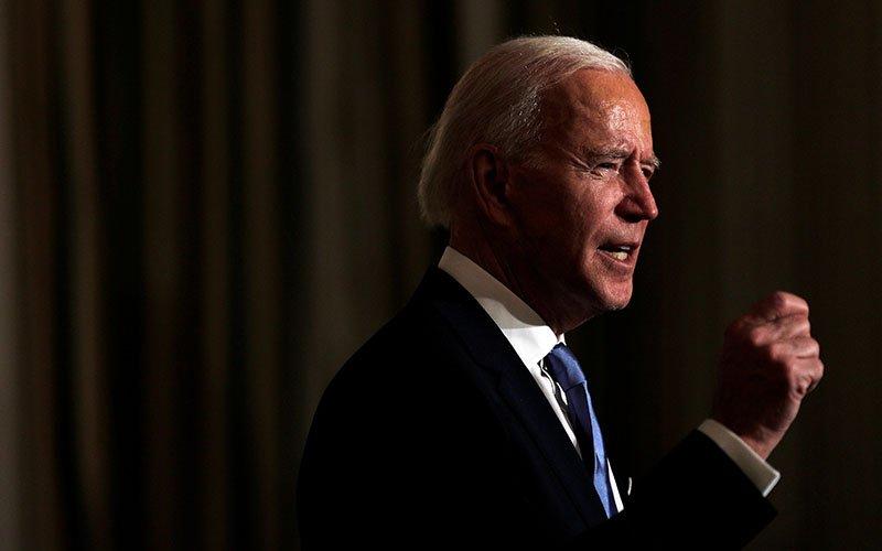President Joe Biden is seen at the White House Jan. 20, 2021.