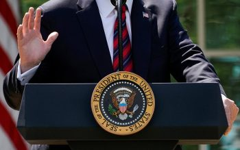Then-President Donald Trump delivers remarks about immigration reform from the White House in Washington May 16, 2019.