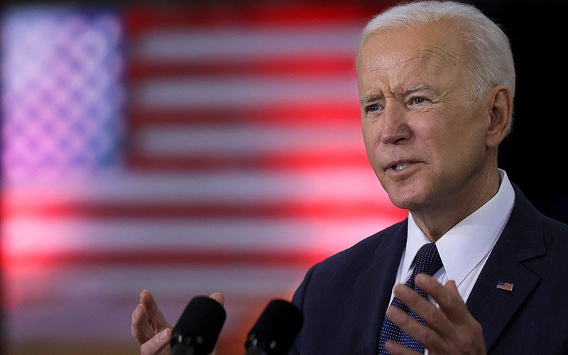 resident Joe Biden speaks about his $2.2 trillion infrastructure plan at Carpenters Pittsburgh Training Center in Pittsburgh March 31, 2021.