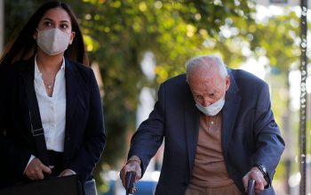Former Cardinal Theodore E. McCarrick arrives at Dedham District Court in Dedham, Mass., Sept. 3, 2021, after being charged with molesting a 16-year-old boy during a 1974 wedding reception.