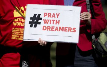 Pray with Dreamers sign