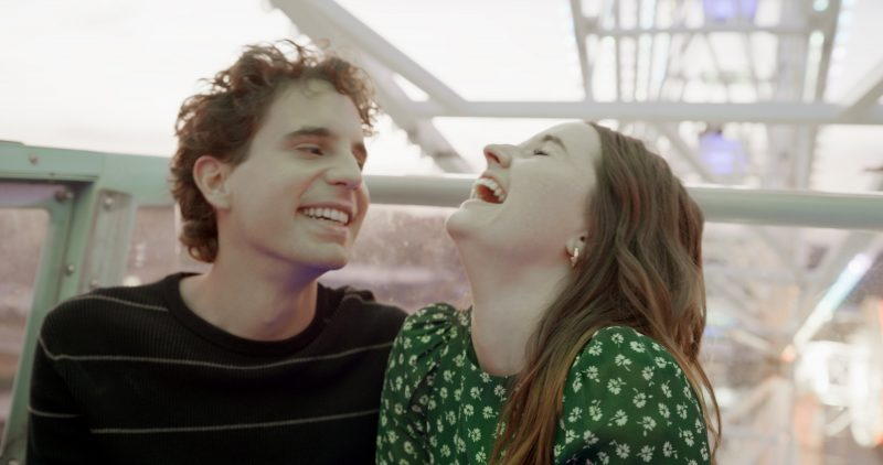 """Ben Platt and Kaitlyn Dever star in a scene from the movie """"Dear Evan Hansen."""" The Catholic News Service classification is A-III -- adults. The Motion Picture Association rating is PG-13 -- parents strongly cautioned. Some material may be inappropriate for children under 13. (CNS photo/Universal Pictures)"""