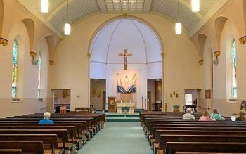 On June 26 and 27, parishioners of The Parish of the Holy Family in Gates were able to say goodbye to two of their worship sites, St. Helen and Holy Ghost, which have both been sold and will close at the end of the month. (Courier photo by Gina Capellazzi)