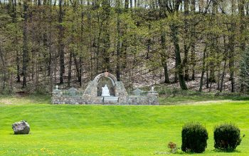 John Landino's homemade Marian shrine in Wayland, Steuben County. (Courier photo by Jeff Witherow)