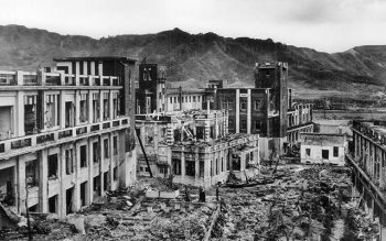 Nagasaki, Japan, showed scant signs of recovery four years after an atomic bomb was detonated over the city Aug. 9, 1945. (CNS photo by Milwaukee Journal Sentinel files, USA TODAY NETWORK via Reuters)