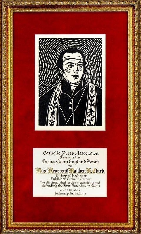 Bishop John England Award.