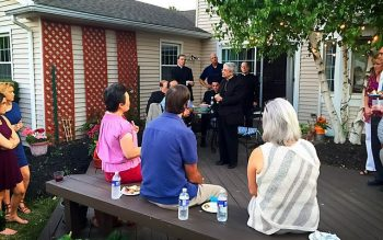 Bishop Salvatore R. Matano speaks during a Finger Lakes Guild event in August.