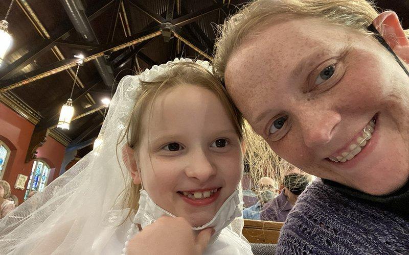 Jennifer Burke and her daughter. (Courier photo by Jennifer Burke)