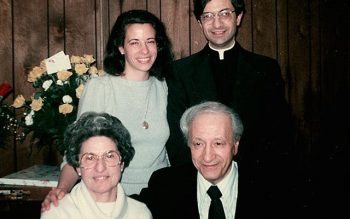 In this photo from 1971, the year he was ordained, then-Father Matano posed with his sister, Vanessa Danielson, and his parents, Salvatore and Mary. (Photo courtesy of the Matano Family)