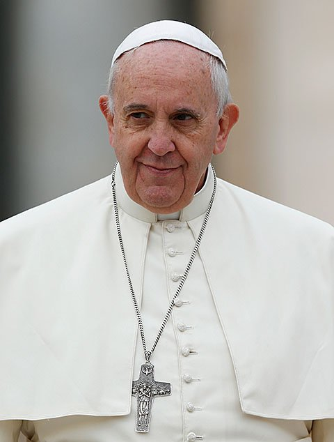 Pope Francis is pictured during his general audience in St. Peter's Square at the Vatican Oct. 29.