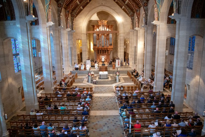 The Sept. 11 memorial Mass is celebrated at Rochester's Sacred Heart Cathedral.