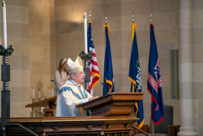 Bishop Salvatore R. Matano gives the homily.
