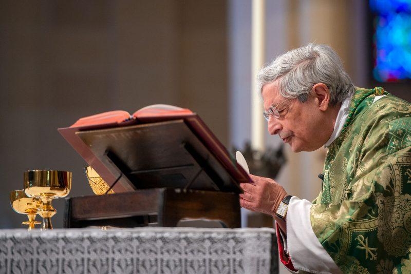 Bishop Matano celebrates the Liturgy of the Eucharist.